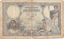Algerien 500 Francs  Women and child - 29-06-1926 Serial G.2