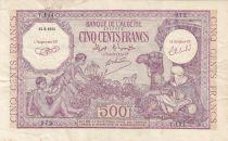 Algerien 500 Francs Arab w/camel - Oasis - 15-09-1944 Serial Y.114