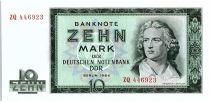 Allemagne (RDA) 10 Mark Friedrich Schiller - 1964