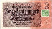 Allemagne (RDA) 2 Deutsche Mark - Brun et jaune - 1948
