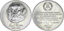 Allemagne (RDA) 20 Mark - Karl Marx - 1983 -  TTB à SUP