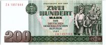 Allemagne (RDA) 200 Mark Famille et dance d\' enfants - 1985