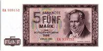 Allemagne (RDA) 5 Mark Alexander Humboldt - 1964