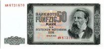 Allemagne (RDA) 50 Mark Friedrich Engels - 1964