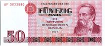 Allemagne (RDA) 50 Mark Friedrich Engels - 1971