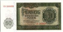 Allemagne (RDA) 50 Mark Vert et vert clair - 1948
