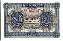 Allemagne (RDA) 50 Pfennig  Bleu et brun clair - 1948