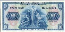 Allemagne (République Fédérale) 10 Deutsche Mark - Justice, travail - 1949 - N2420307W