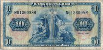 Allemagne (République Fédérale) 10 Deutsche Mark - Justice, travail - 1949 - N6136098R