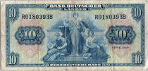Allemagne (République Fédérale) 10 Deutsche Mark - Justice, travail - 1949 - R0180393B