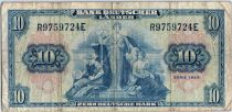 Allemagne (République Fédérale) 10 Deutsche Mark - Justice, travail - 1949 - R9759724E