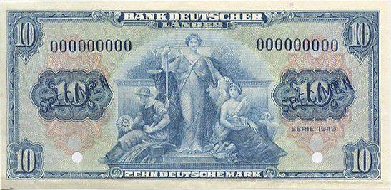Allemagne (République Fédérale) 10 Deutsche Mark Mark, Justice, travail