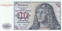 Allemagne (République Fédérale) 10 Deutsche Mark Mark, Port. homme - Voilier - 1980
