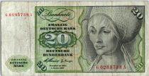 Allemagne (République Fédérale) 20 Deutsche Mark - Elsbeth Tucher - Instruments de Musique - 1960 - GA