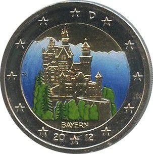 Allemagne (République Fédérale) NEW-.2012 2 ?, Bayern (colorisée)