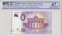 Allemagne (RFA) 0 Euro 2018 - Porte de Brandebourg, Berlin - Billet touristique - PCGS 67 OPQ