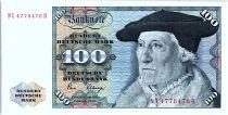 Allemagne (RFA) 100 Deutsche Mark, Sebastien Munster - Aigle - 1980