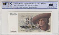 Allemagne (RFA) 50 Deutsche Mark, 1948 - Epreuve Specimen - PCGS 66 OPQ