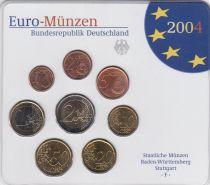 Allemagne (RFA) Série 8 monnaies 2004 - FDC - Stuttgart - F
