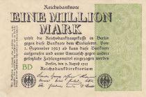 Allemagne 1 000 000 Mark 1923  - Série BD