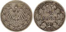 Allemagne 1/2 Mark 1905E - Aigle couronné, argent