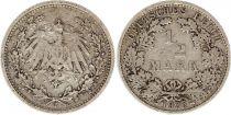Allemagne 1/2 Mark 1905F - Aigle couronné, argent