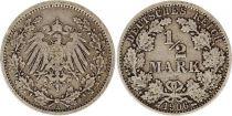 Allemagne 1/2 Mark 1906A - Aigle couronné, argent