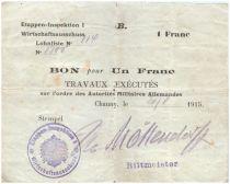 Allemagne 1 Franc Bon - 1 er Armée Allemande