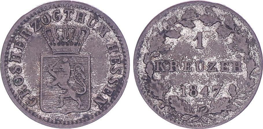 Allemagne 1 Kreuzer, Ludwig II - 1847