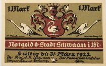 Allemagne 1 Mark, Schwaan - notgeld - SPL