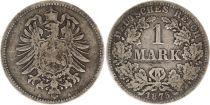 Allemagne 1 Mark 1875 A - Aigle couronné, argent