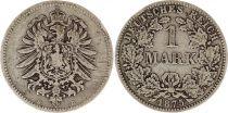 Allemagne 1 Mark 1875D - Aigle couronné, argent