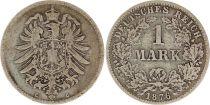 Allemagne 1 Mark 1876C - Aigle couronné, argent
