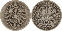 Allemagne 1 Mark 1876D - Aigle couronné, argent