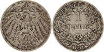 Allemagne 1 Mark 1891A - Aigle couronné, argent