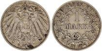 Allemagne 1 Mark 1910F - Aigle couronné, argent