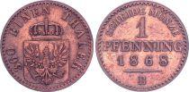 Allemagne 1 Pfennig,  Armoiries - 1868 B