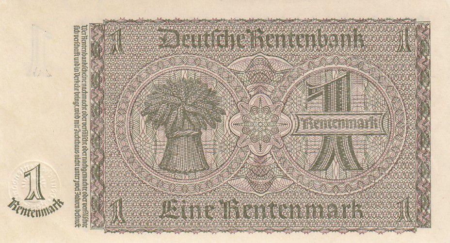 Allemagne 1 Rentenmark 1937 Série E - Neuf - P.173b