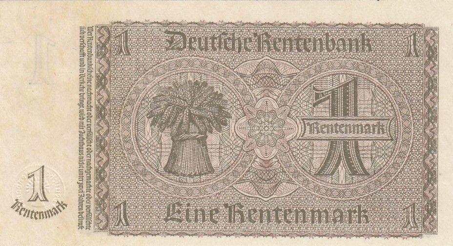 Allemagne 1 Rentenmark 1937 Série P - Neuf - P.173b