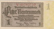 Allemagne 1 Rentenmark 1937 Série V - SUP - P.173b
