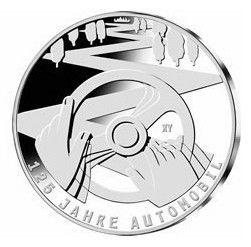 Allemagne 10 Euro 2011, 125 ans Automobile