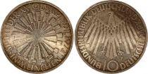 Allemagne 10 Mark 1972F - Aigle, Symbole spirale, argent
