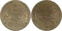Allemagne 10 Mark 1972J - Aigle, Anneaux olympiques, argent