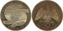 Allemagne 10 Mark 1972J - Aigle, Jeux olympiques, argent
