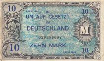Allemagne 10 Mark Impr. américaine - 1944 9 digit 019396597 - avec F