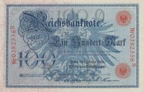 Allemagne 100 Mark 1908 - numérotation rouge - P.33 - Neuf