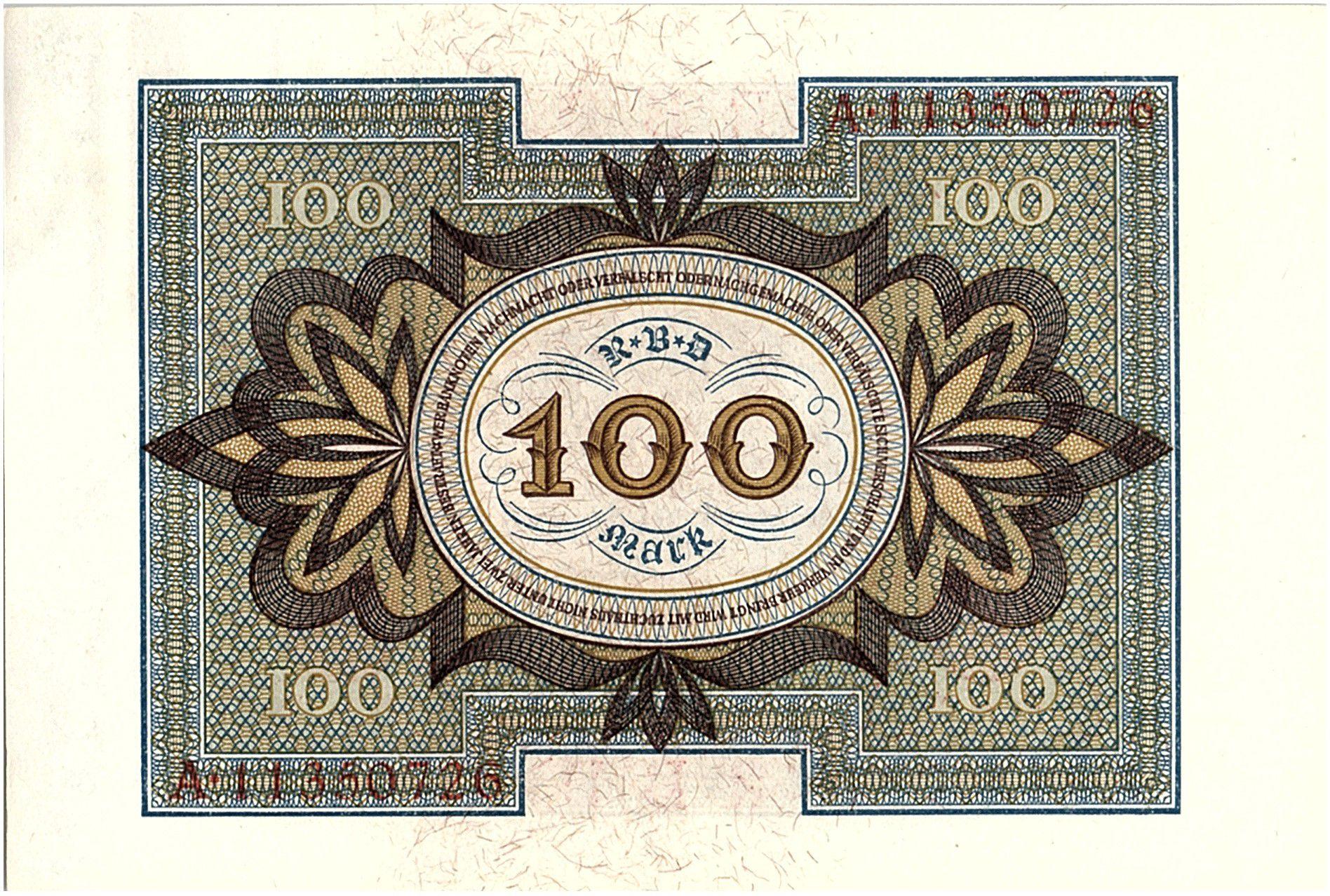 Allemagne 100 Mark Cavalier de Bamberg - 1920 - P.69 Série A - SPL