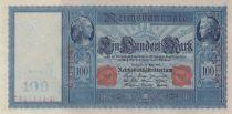 Allemagne 100 Mark Mercure et Cérès, numérotation rouge - 1910 - P.42 - p.NEUF