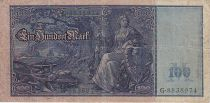 Allemagne 100 Mark Mercure et Cérès, numérotation verte - 1910