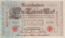 Allemagne 1000 Mark Brun numérotation rouge - 1910 - 7 chiffres - P.44 - SUP
